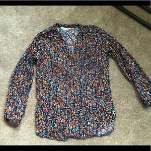 Floral Tunic Length Top
